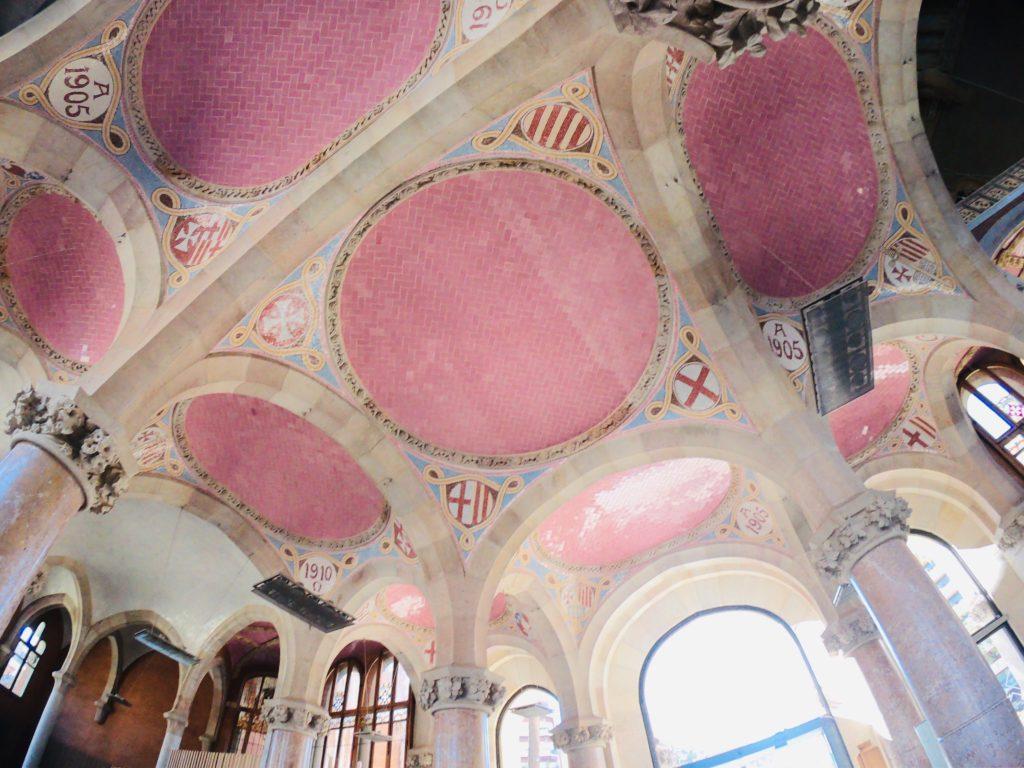サンパウ病院の天井の観光