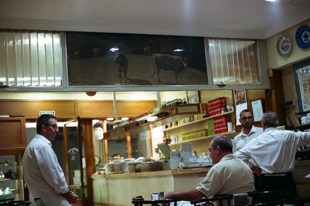 バルセロナのチュロス店ラパリャレサの店内