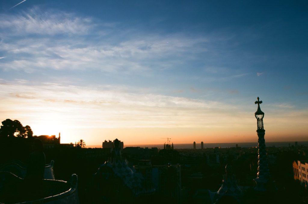 開園前に見れる朝日は無料な上に絶景