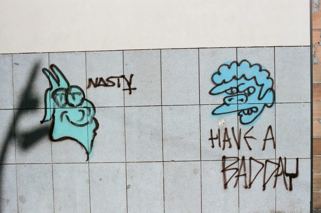 サンジュセップ市場裏のストリートアート