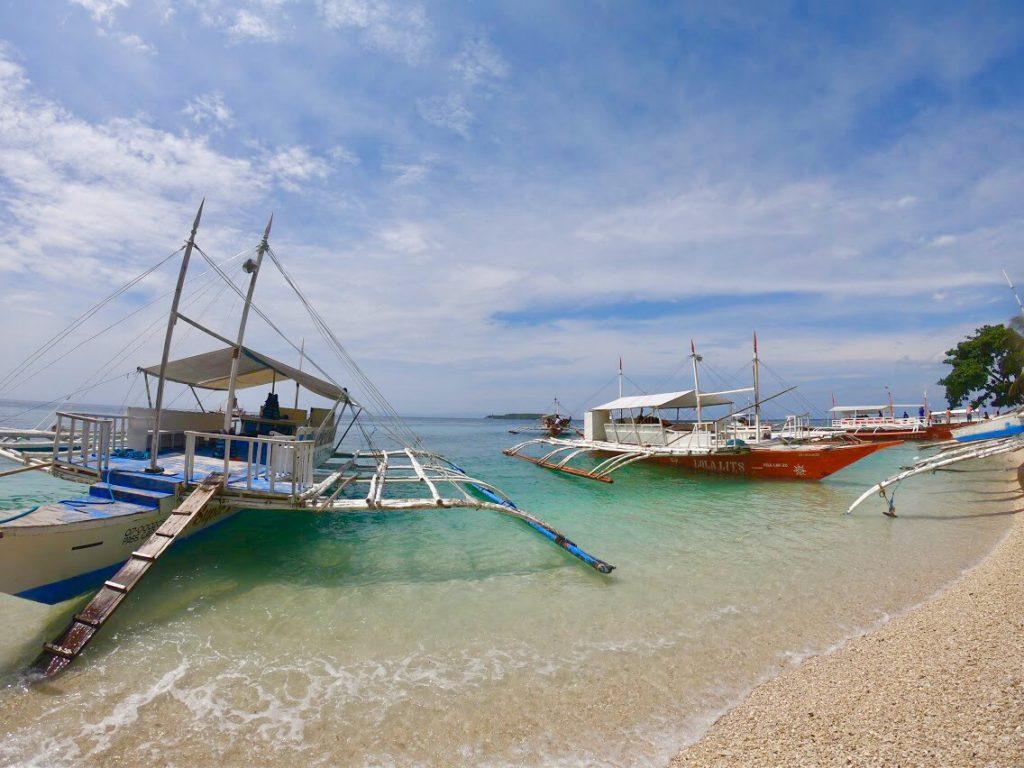 セブ島のビーチ。ホテルにもプライベートビーチが