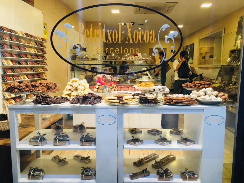 バルセロナのチュロス専門店ペリトリアルチョコア入り口