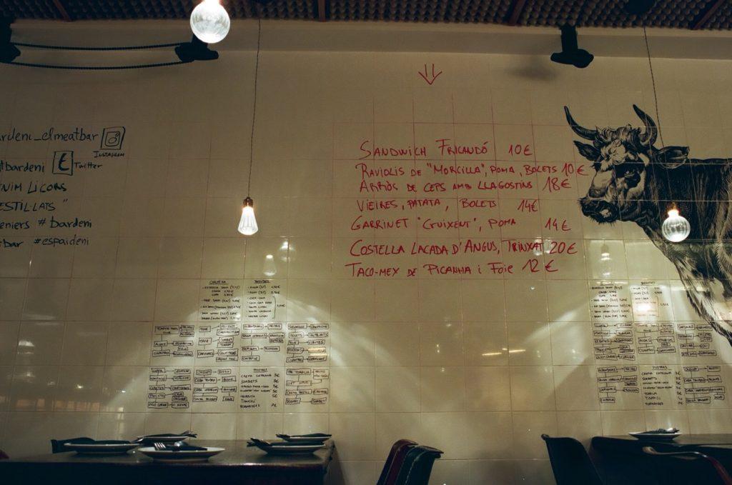 バルセロナのおすすめレストランBardeniのメニュー飲み物