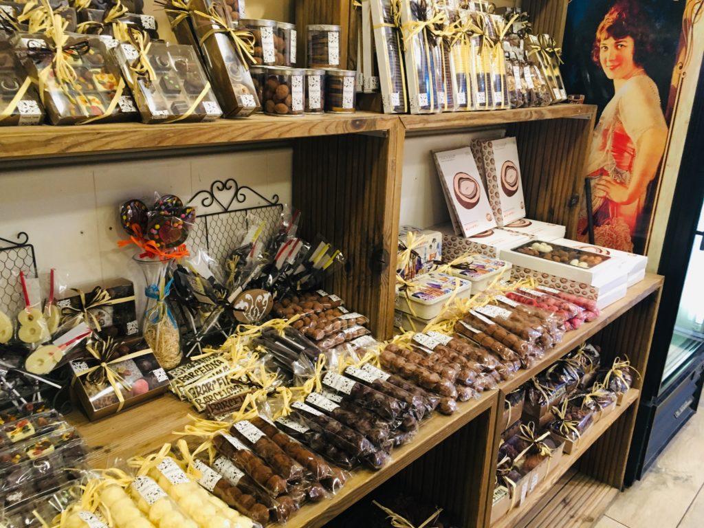 ペリトリアルチョコアのチョコレート菓子。バルセロナチュロスと一緒に