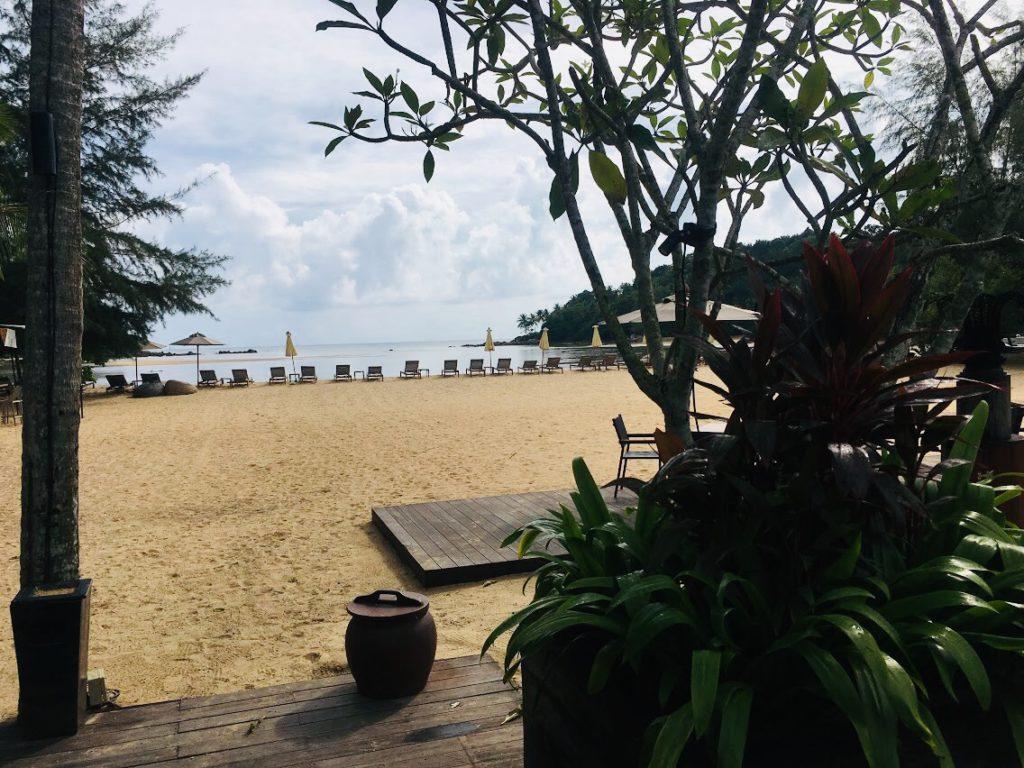 アナンタラ・ラヤン・プーケットではプライベートビーチもある