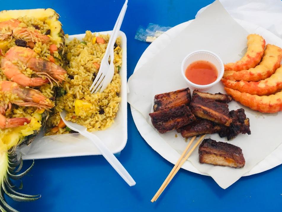 パトンビーチ観光で食べた屋台のご飯