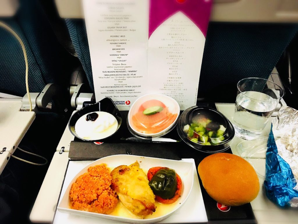ターキッシュエアラインの機内食