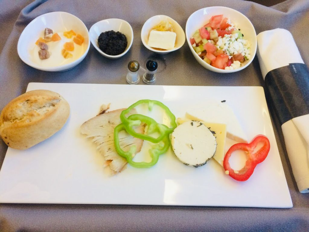 ターキッシュエアラインビジネスクラスの機内食