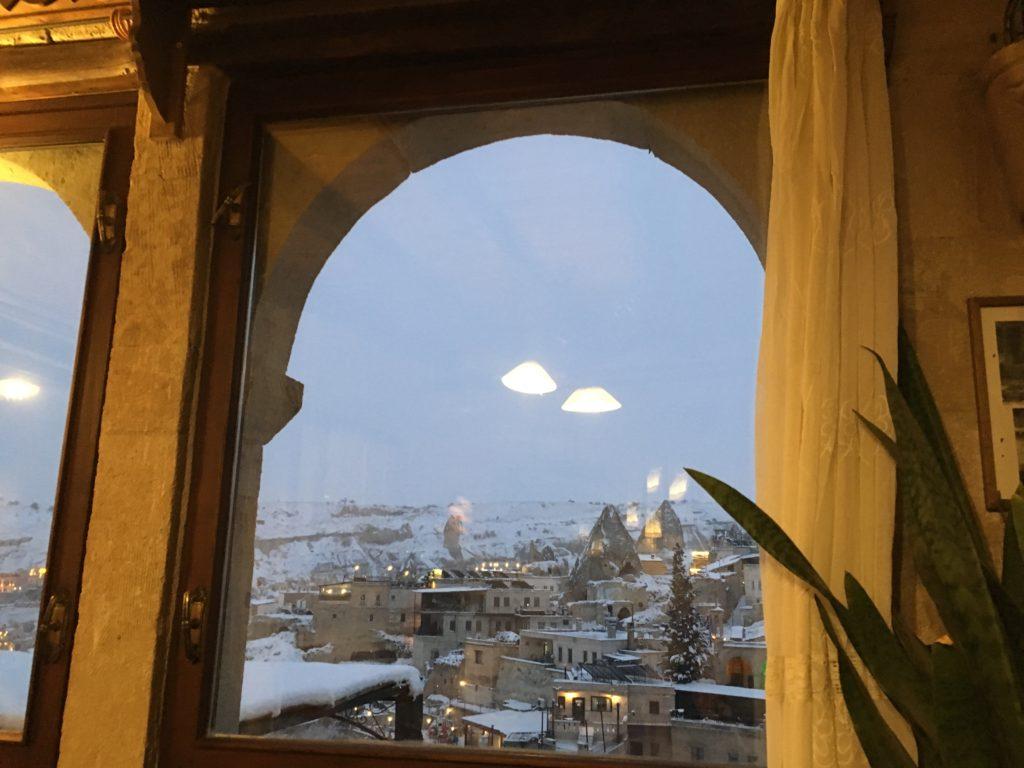 おすすめレストランから見るカッパドキア・ギョレメの景色