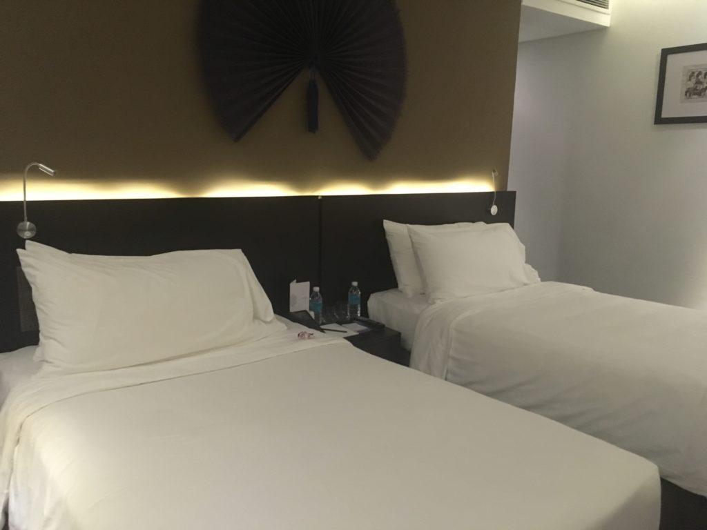 リゾートホテルメリアダナンのベッド