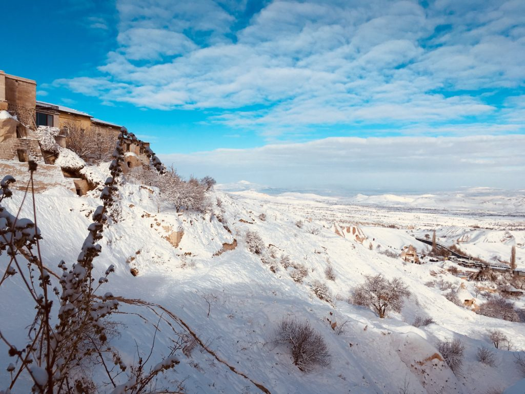 カッパドキアの観光スポットウチヒサルから見る景色
