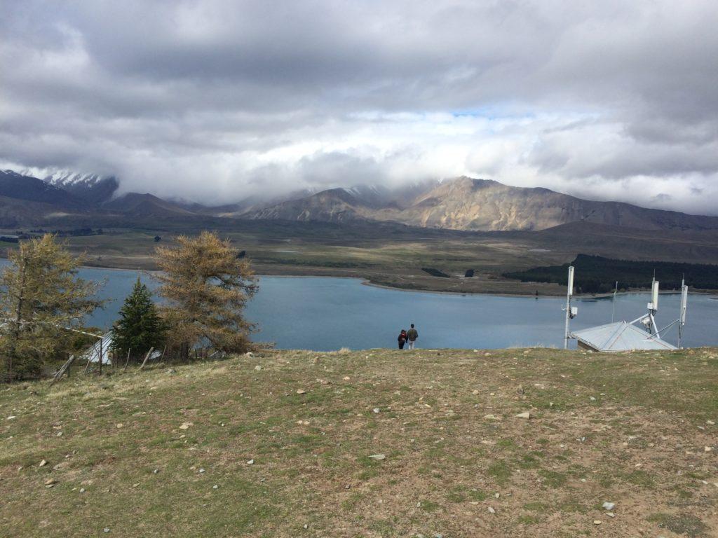 展望台から見るテカポ湖