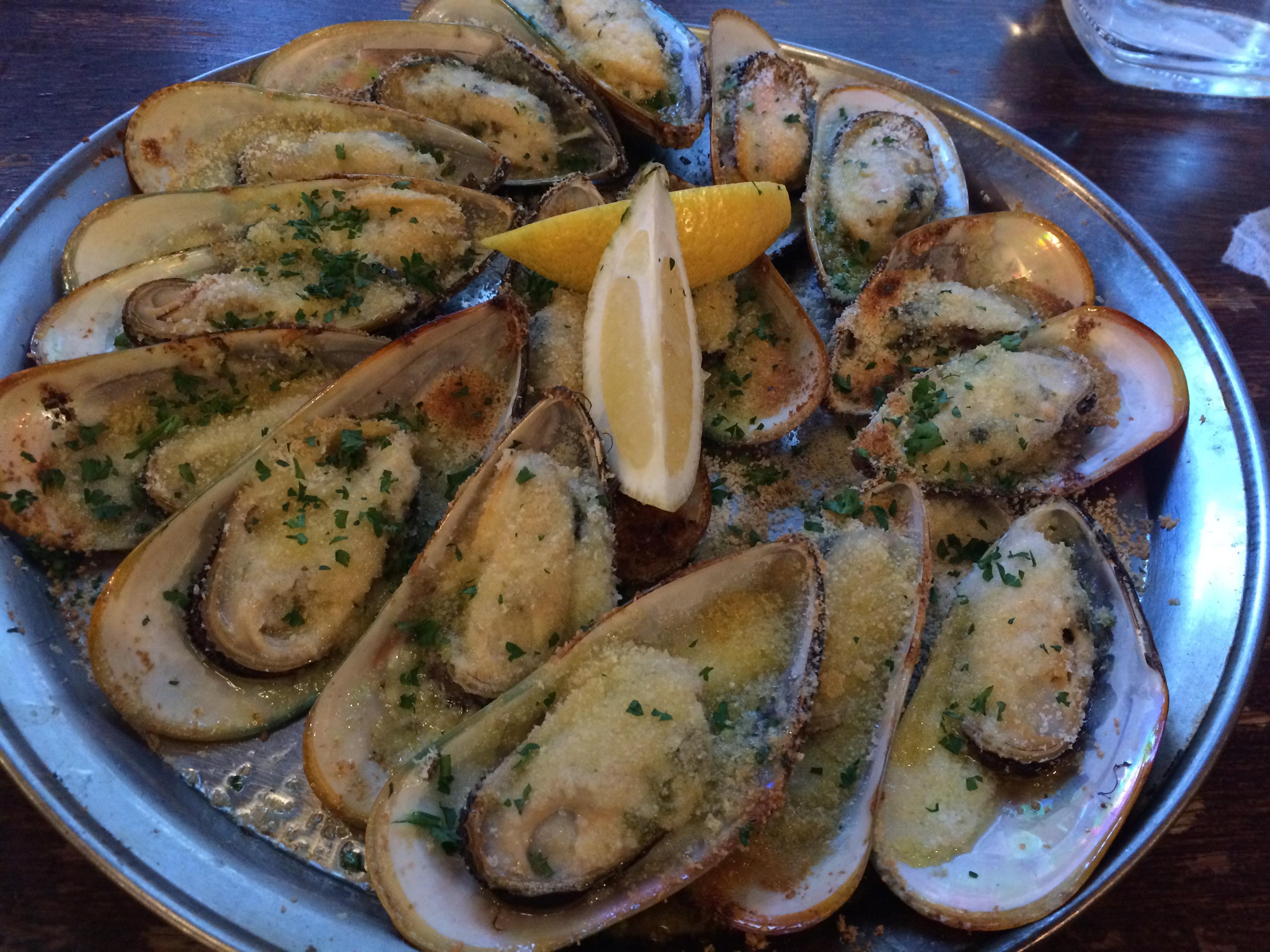 オークランドのおすすめレストランのムール貝