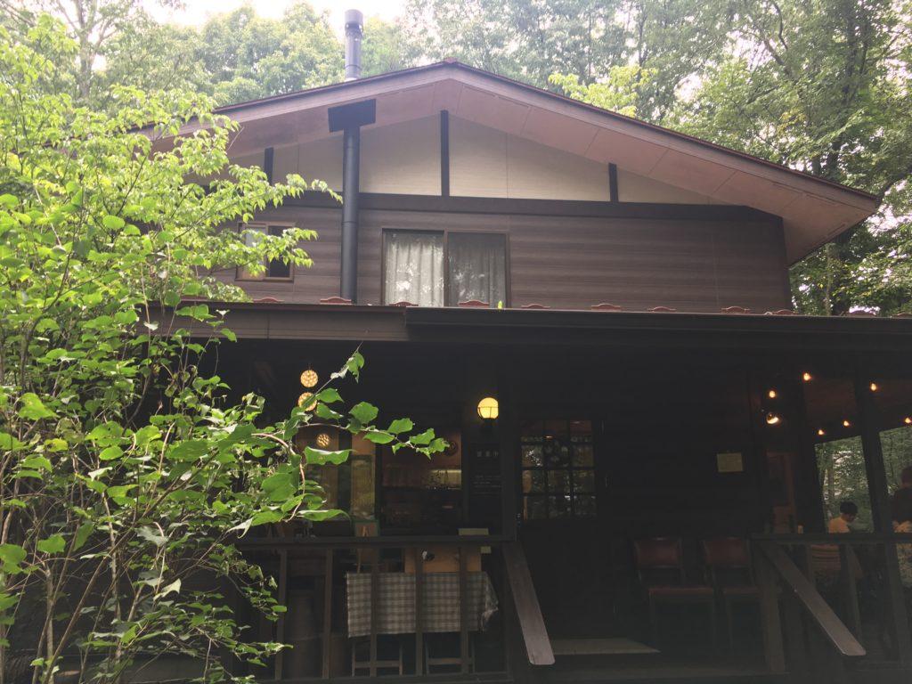 軽井沢おすすめのカフェ朝食キャボットコーブの入り口