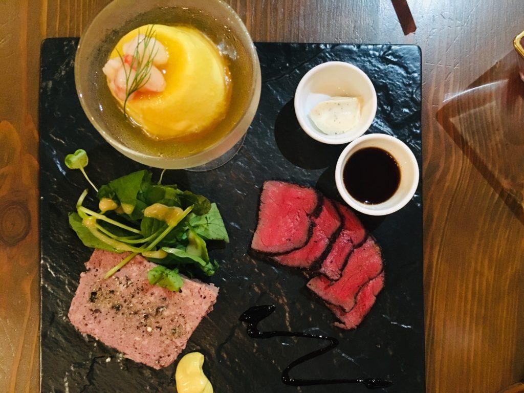 軽井沢のおすすめレストランの前菜盛り合わせ