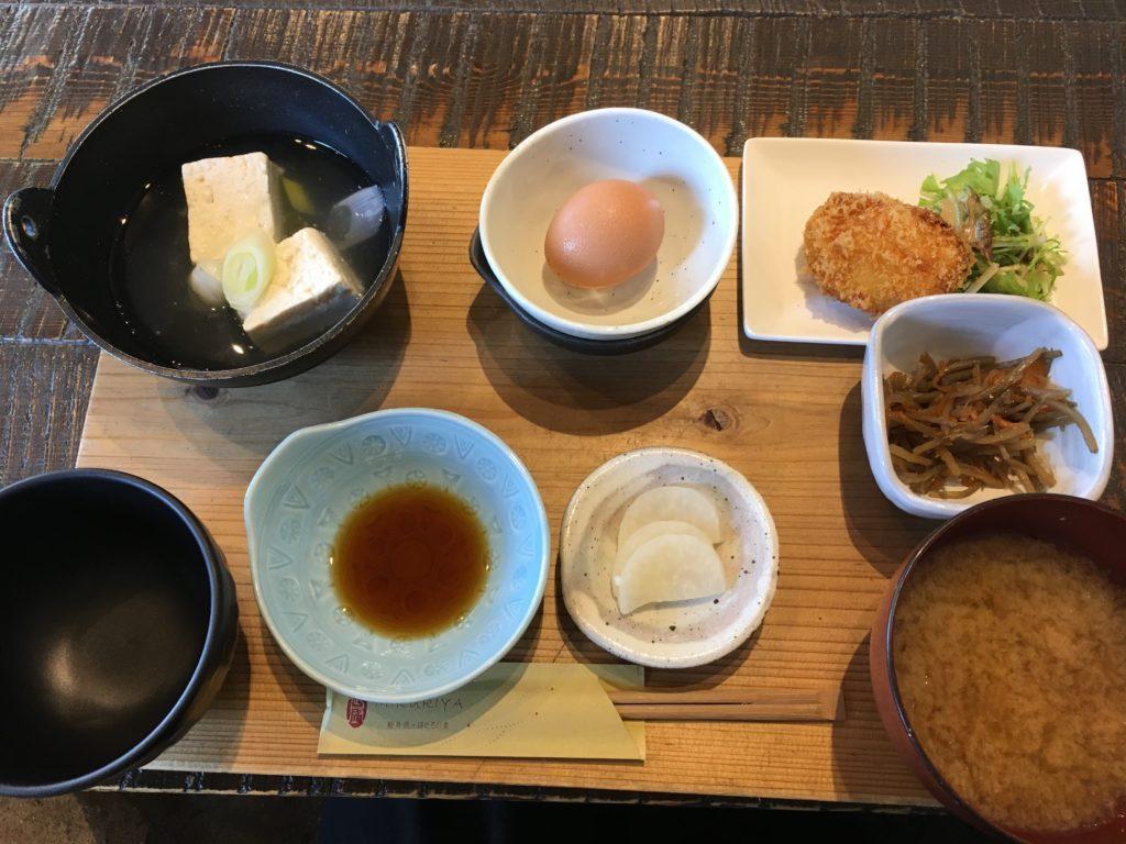 軽井沢のおすすめ和食の朝食