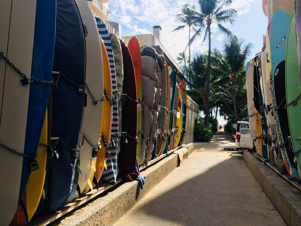 ハワイのワイキキ観光