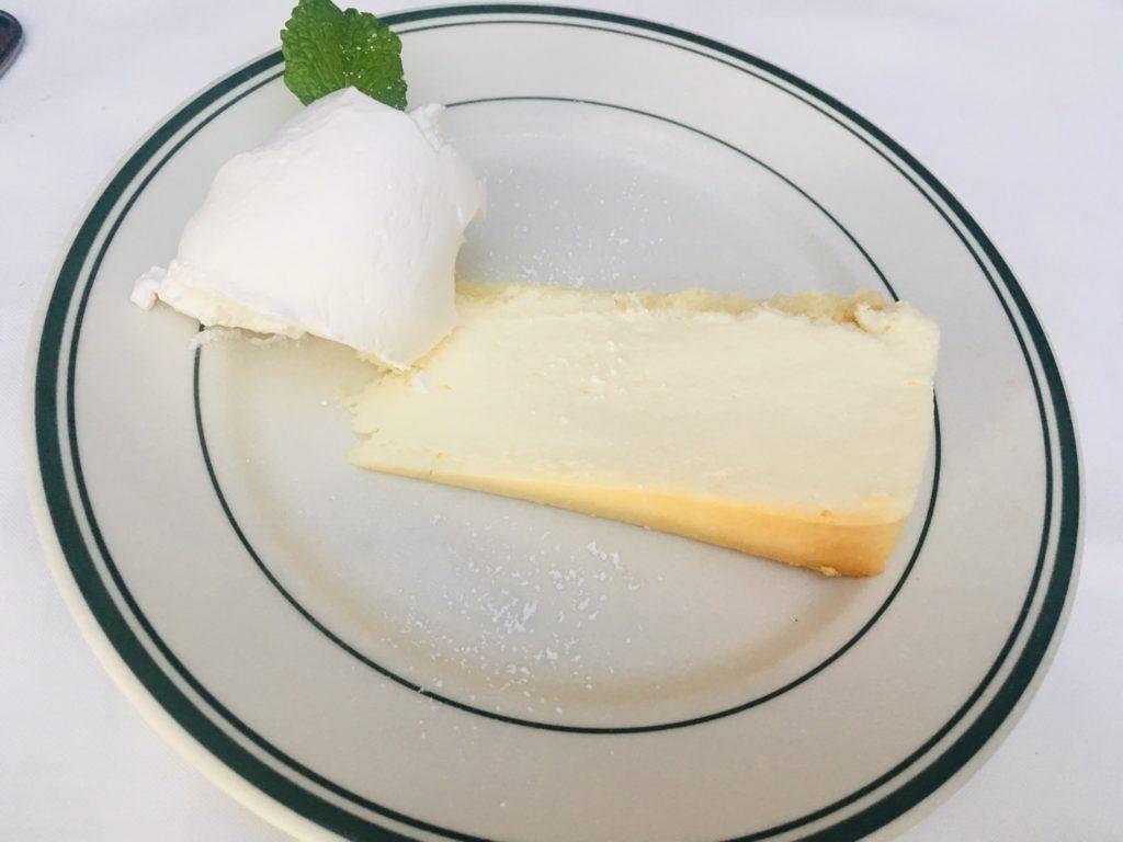 ハワイのおすすめステーキハウスのチーズケーキ