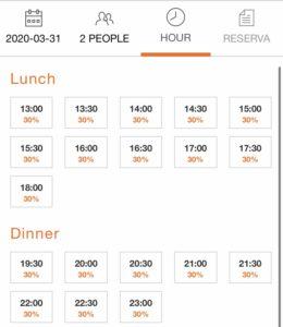 バルセロナレストラン予約方法希望時間登録