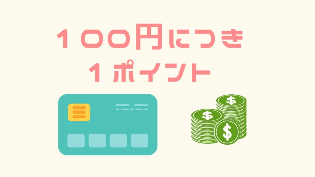 楽天カードは100円につき1ポイント貯まる