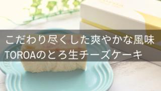 toroaのとろ生チーズケーキお取り寄せ口コミ・評判レビュー