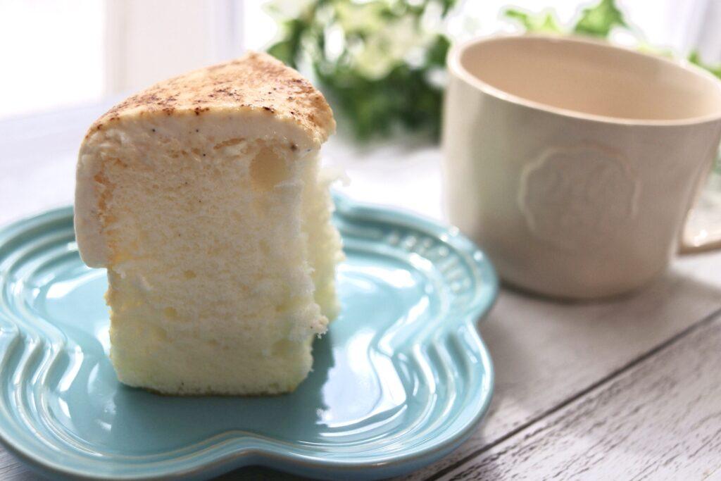 This is CHIFFON CAKE.のシフォンケーキはふわふわしっとり食感